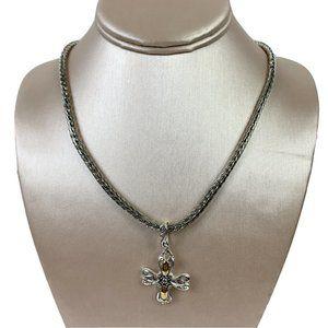 Premier Designs Cross Pendant Silver Necklace